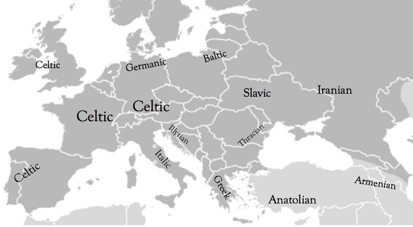 Linguistics Exploring Celtic Civilizations - Language family map